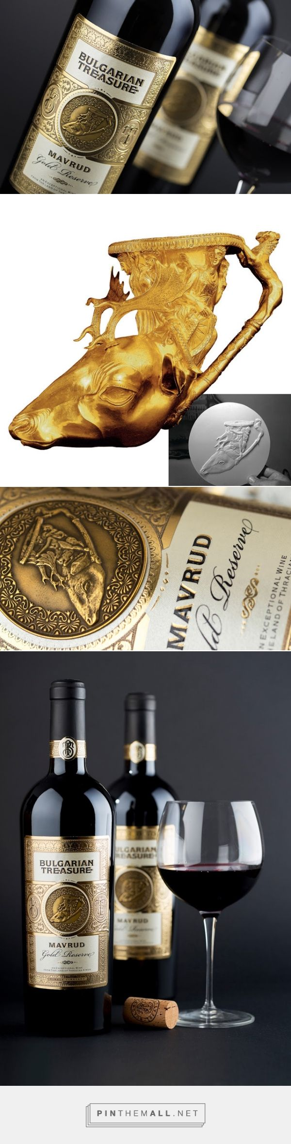 The Bulgarian Treasure Wine label designed by The Labelmaker - http://www.packagingoftheworld.com/2015/12/the-bulgarian-treasure-wine.html - created via https://pinthemall.net