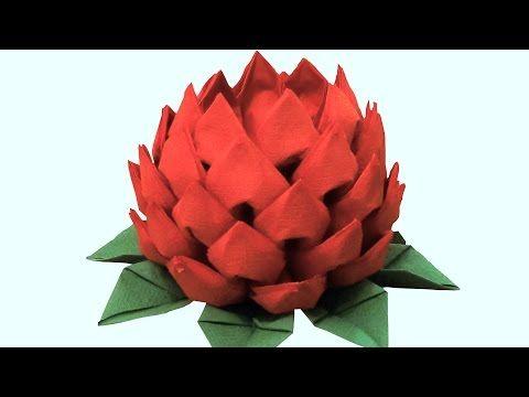 Цветок из салфеток - YouTube
