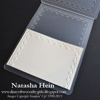 How to emboss a frame on a smaller piece of paper
