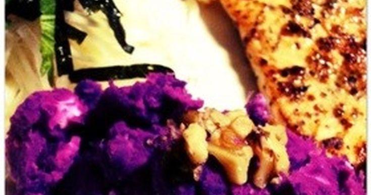 簡単☆紫芋とクリームチーズのサラダ☆ by headsup [クックパッド] 簡単おいしいみんなのレシピが250万品