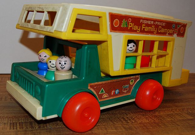vintage fisher price family camper