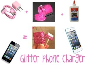 """Glitter Phone Charger!"" by kydia on Polyvore by shauna"