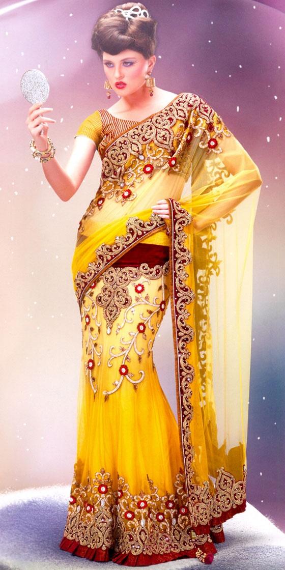 heavy kundan sarees