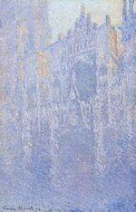 Claude Monet; La Cattedrale di Rouen. Il portale, nebbia mattutina; 1893; olio su tela; Museum Folkwang, Essen (Germania).