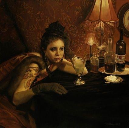 The Absinthe Drinker - Edgar Degas - WikiArt.org