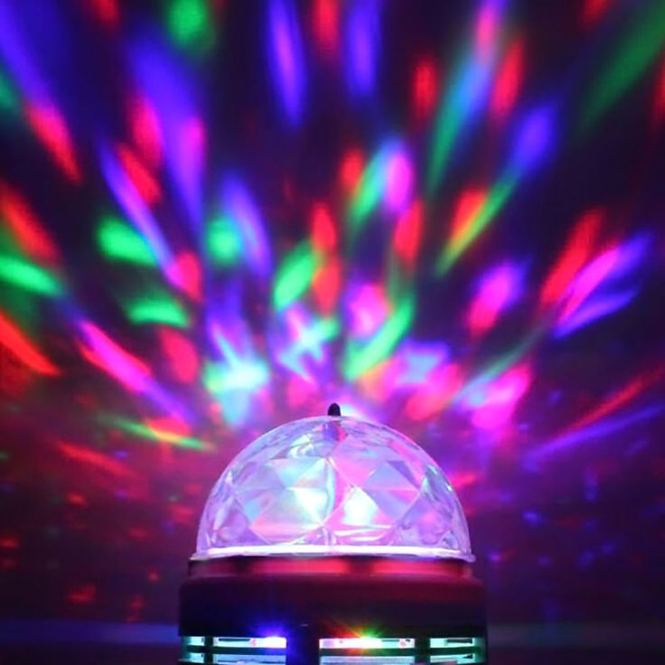 E27 3W Colorful Auto Rotating RGB LED Bulb Stage Light Party Lamp Disco #Unbranded