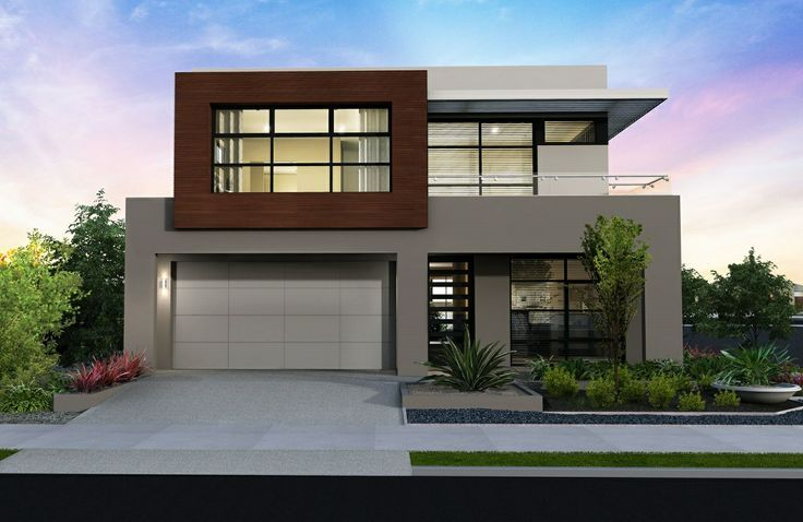 fachadas de casas minimalistas de dos plantas | inspiración de diseño de interiores