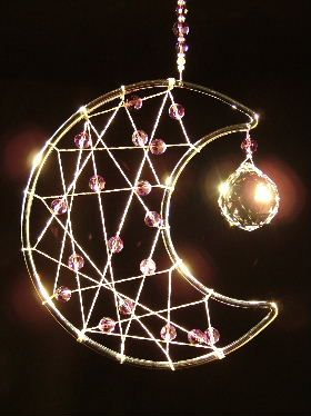 Dancing Crystals - Moon Dream catcher