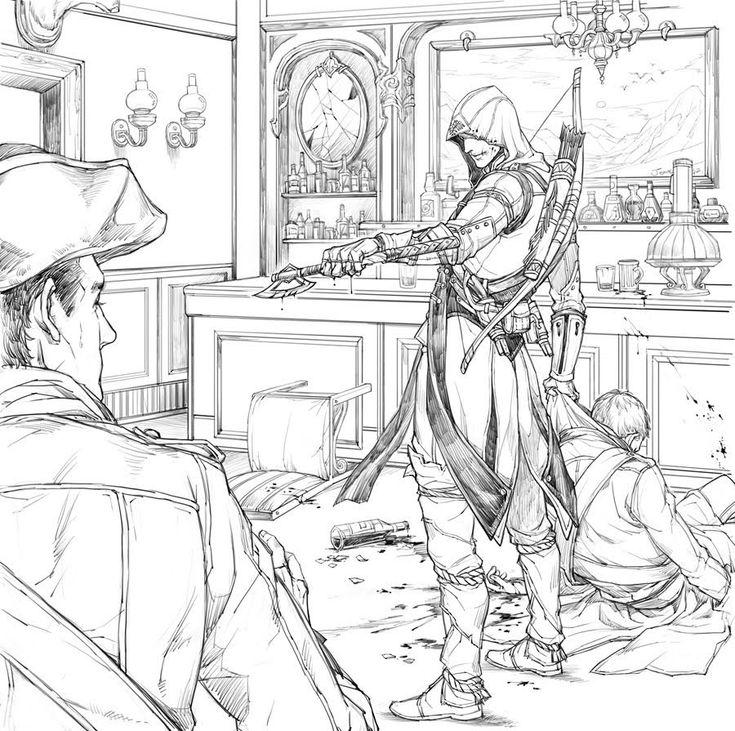 """He spilt my pint!"" - Assassin's Creed III"