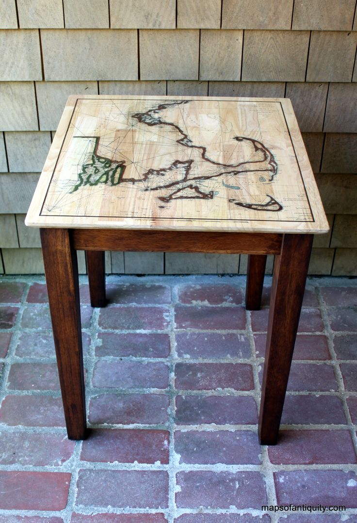 10 best map tables custom furniture images on pinterest custom custom map side table cape cod nantucket marthas vineyard this is table geotapseo Image collections