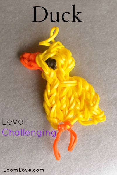 How to Make a Duck Charm on your Rainbow Loom #rainbowloom