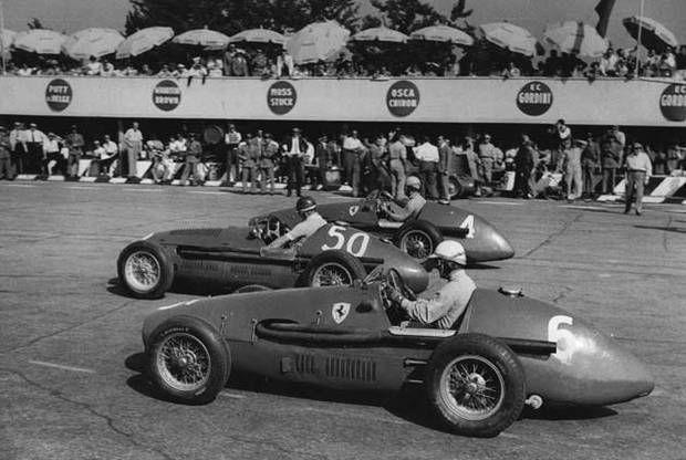 #4 Alberto Ascari (I) - Ferrari 500 (Ferrari 4) accident (1) Scuderia Ferrari #6 Giuseppe Farina (I) - Ferrari 500 (Ferrari 4) 2 (3) Scuderia Ferrari #50 Juan Manuel Fangio (RA) - Maserati A6GCM (Maserati 6) 1 (2) Officine Alfieri Maserati