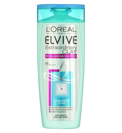 LOreal Paris Elvive Extraordinary Clay Re-Balancing Shampoo 250ml - Boots