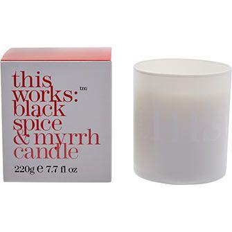 Black Spice & Myrrh Scented Candle
