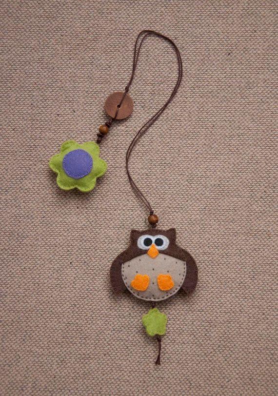 Big owl felt bookmark by suyika on Etsy, $15.00
