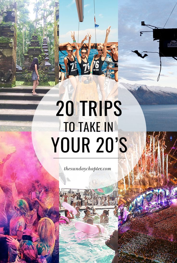 20 Trips to Take in Your 20's | Sunday Chapter