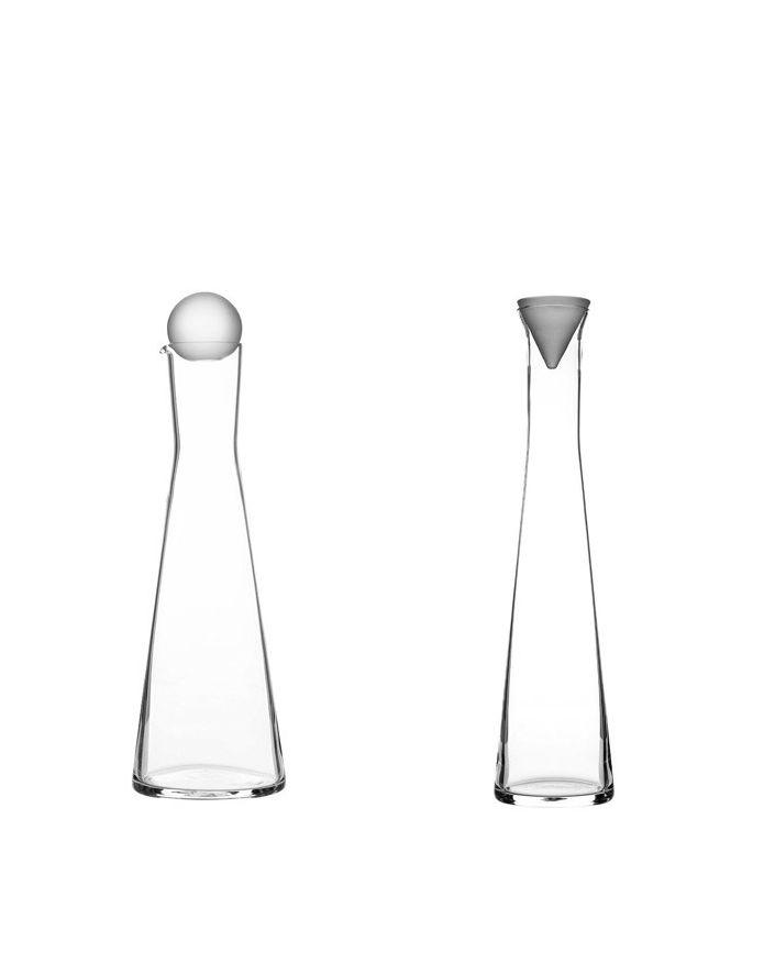 Ingegerd Råman | Oil and vinegar carafes for Skrufs Glasbruk AB Dim. 225 - 290 mm