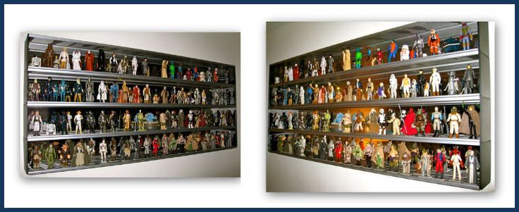 Rock Collection Display Ideas | Shown Above: Series 3000 - Set of Four with Optional Mirror Background