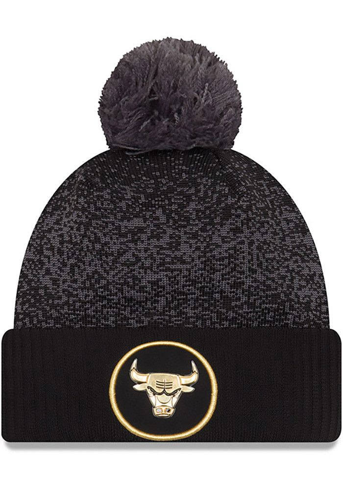 85f884a9753 New Era Chicago Bulls Black NBA17 On Court Mens Knit Hat - Image 1 ...