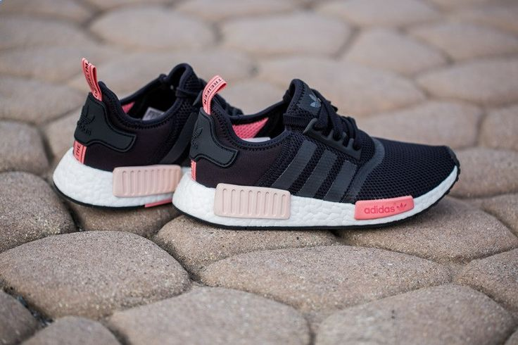 Womens Adidas NMD Black/Peach/Pink