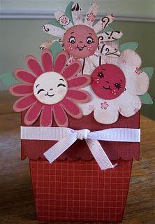 Flower Pot card.  Made using my Cricut :)