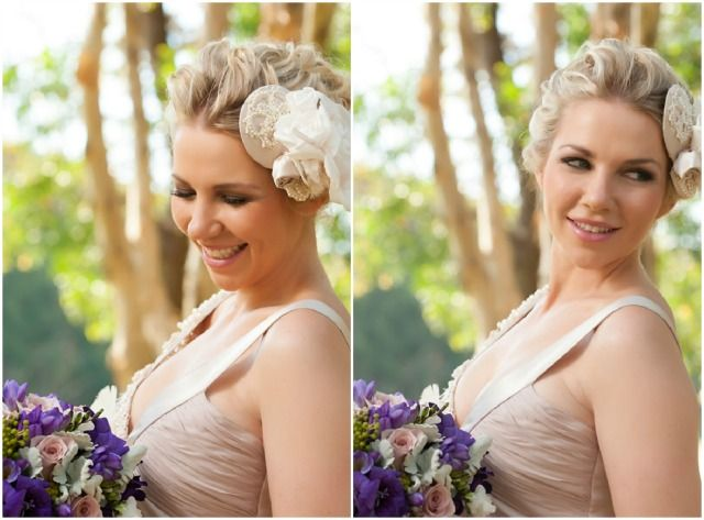 Bridal Beauty | The Bride's Tree - Sunshine Coast Wedding    Bridal Makeup & Hair Beauty  Makeup by: Sally Townsend Makeup Artistry  Hair by: Taryn Smith Hair Artistry  Hair accessory & dress by: Judy Copley Bridal  Photography by: Matt Rowe Photography  Location: Twin Waters Golf Club  Flowers by: GInger Lily & Rose Floral Design Studio