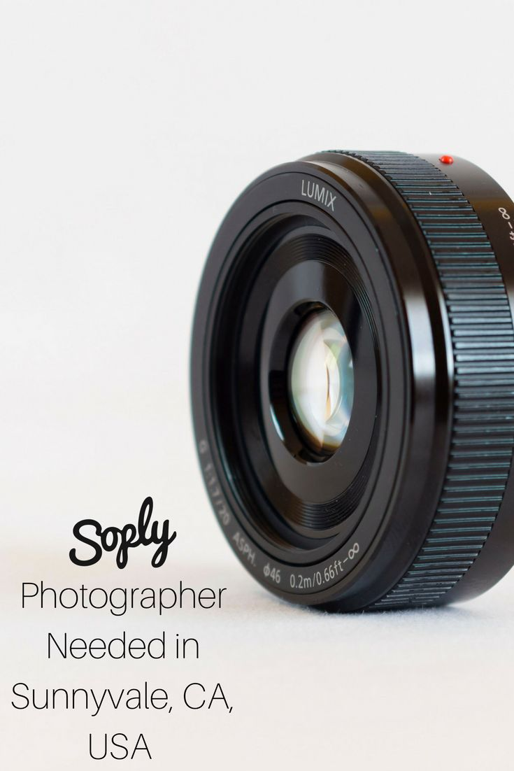 #Photographer needed to #document a #company #demo in Sunnyvale, California, USA. The #client would just like #candid #shots of the evening. See the #photography job and apply by clicking the pin!