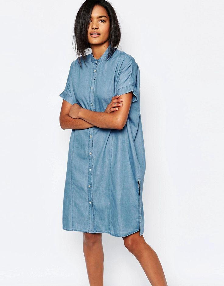 les 25 meilleures id es concernant robes chemise en denim sur pinterest robes de denim tenues. Black Bedroom Furniture Sets. Home Design Ideas