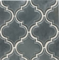 """Our Beveled Arabesque design in the """"Up In Smoke"""" color is perfect for a luxurious  kitchen's backsplash."""