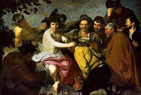 El triunfo de Baco (1628) | Velázquez |El triunfo de Baco es una pintura del español Velázquez, conservada en el Museo del Prado y creada en 1629. Es conocida popularmente como Los borrachos.El cuadro lo pintó algunos años después de su llegada  a Madrid procedente de Sevilla, poco antes de su primer viaje a Italia. En la capital Velázquez pudo contemplar la colección de pintura italiana del rey y quedar impresionado por los cuadros de desnudo que tenía la colección así como por el…