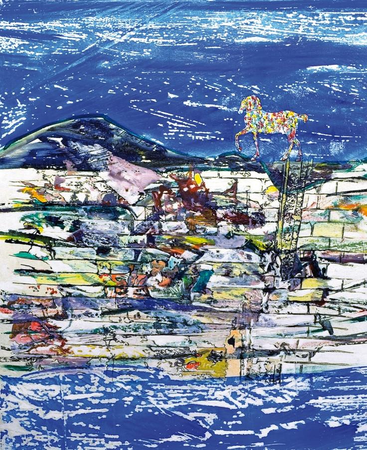 Claudio Spanti - La grande Storia - Acrylique sur toile - cm 70x85 - 2011