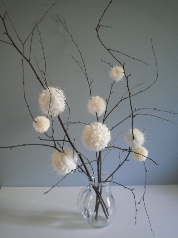 Would be perfect for a winter party table decoration!