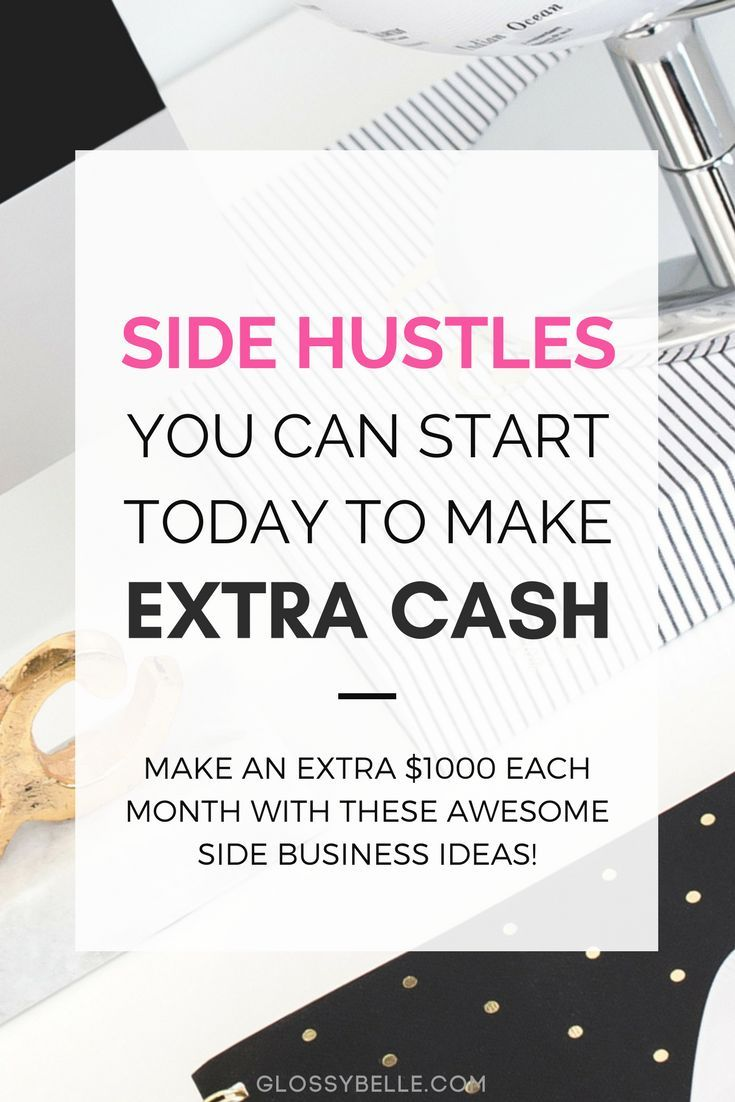 Whether you're saving money for a trip, retirement, or to finally quit your 9-5 desk job, here are 30 easy side hustles you can start today to earn extra cash & diversify your income stream. girl boss   side hustle   earn extra money   entrepreneur   side hustles   make money online   start a business   business tips   business ideas   solopreneur   girlboss   side income   make extra cash   passive income   side job   hustling   diversify income   affiliate marketing   earn passive income