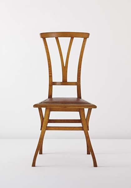 """History of DesiArt Nouveau - organic and curvilinear shape, honesty of materials, descendant of Arts & Crafts, beautification of industrial products  Chair """"Bloemenwerf"""", Henry van de Velde  gn"""