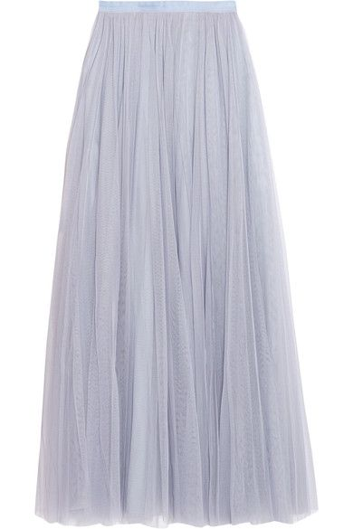 Needle & Thread - Tulle Maxi Skirt - Light blue - UK12