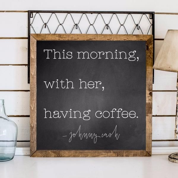 """JOHNNY CASH Approximately26"""" x 26"""" Textured BlackPrinted Board + DistressedWhiteText + Stained Wood Frame Lightweight signs (2-6 pounds) making decorating a"""