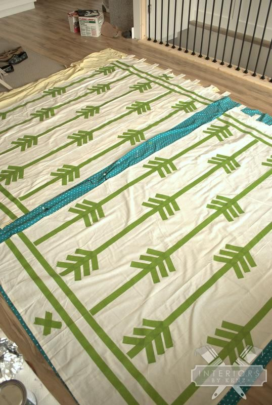 How To Paint Curtains 2 parts paint 1 part textile medium