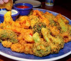 Fried Broccoli ~RED Lobster Style~ Yummy! Me and Derek's all time fav!