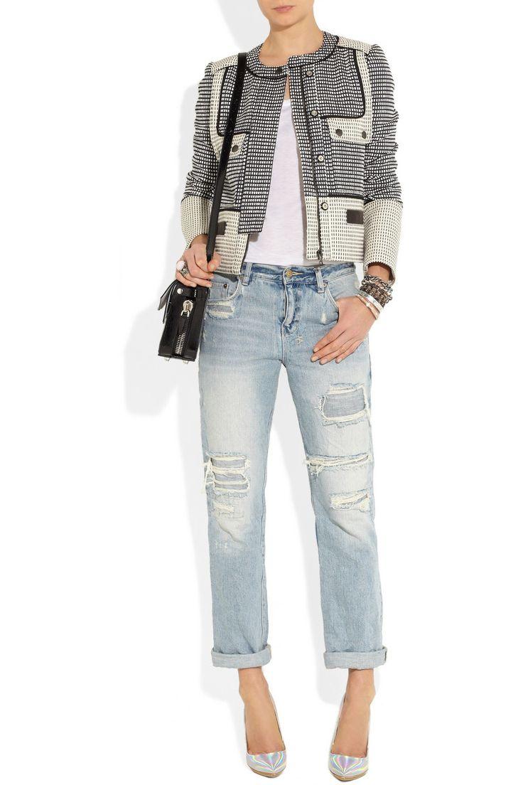 Proenza Schouler Basketweave tweed jacket NET-A-PORTER.COM