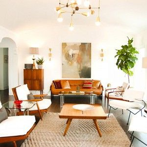 Home Tour: A Designer's Own Soft Midcentury Home | Midcentury modern, Living rooms and Room