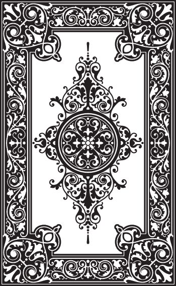 "Custom patterns and stencils for etching, faux painting, embossing, sandblasting, stenciling walls, plaster, glass, concrete and wood - This is a ""carpet"" stencil!"