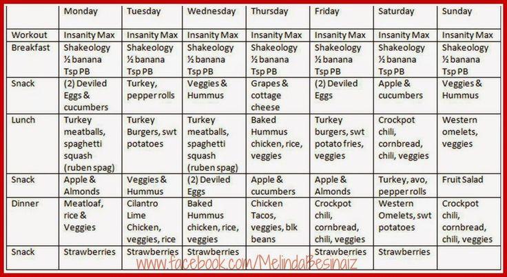 insanity max 30 nutrition plan pdf