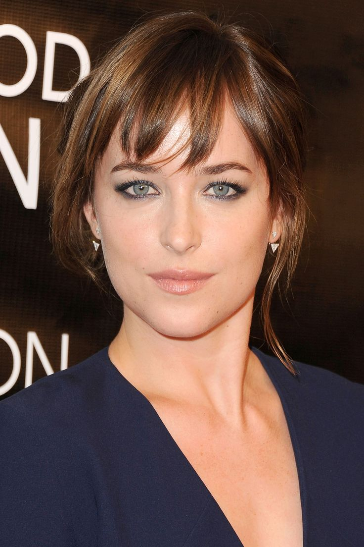 Who: Dakota Johnson What: Smoky Gray Liner How-To: Smoke shimmery gray eyeliner out all around the upper and lower lashes for a simple evening look that still feels more interesting than black kohl. Accent with piecey bangs and soft, shiny tendrils. Editor's Pick: Chanel Precision Eye Definer in Gris Scintillant, $29, chanel.com.   - HarpersBAZAAR.com