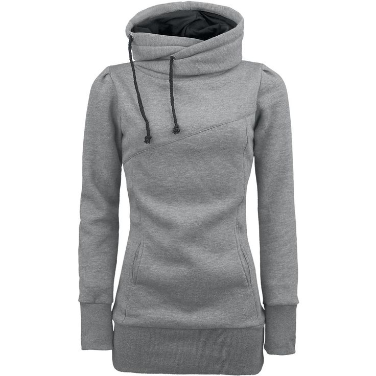 Longsweater with hood, two slide-in pockets, extra broad cuffs and a length of approx. 80 cm.