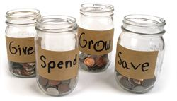 The 4 Part Piggy Bank- Spend, Save, Grow, and Give...Teaching Your Kids to be Financially Responsible