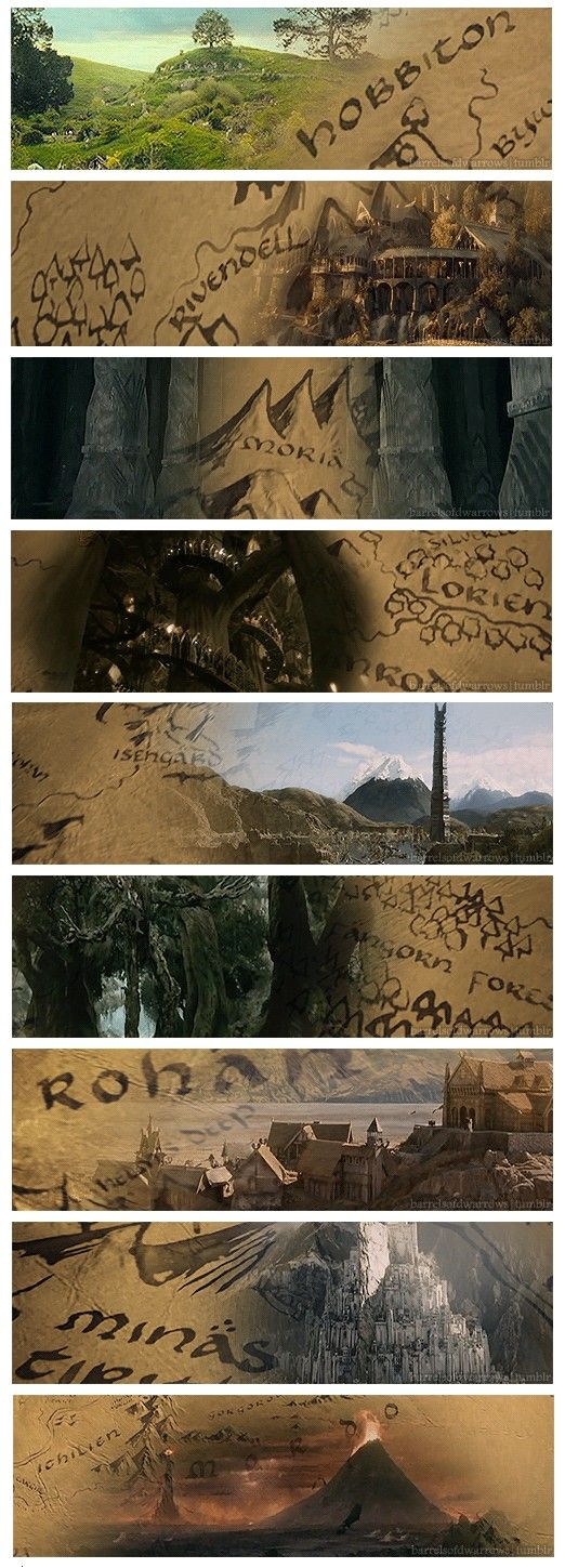 One does not simply walk (directly) into Mordor - a glorious Middle Earth scenery appreciation post (complete with gifs!)