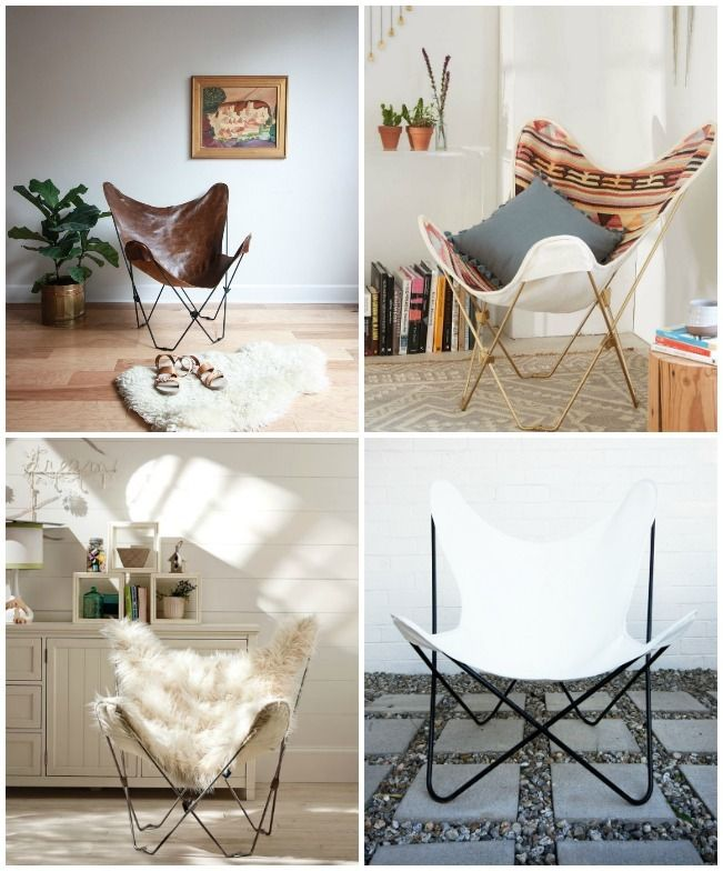 Butterfly chairs are totally in and totally easy to recover! Check out this roundup of 10 beauties that you could totally make yourself!