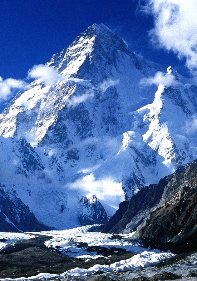 K2 (also known as Chhogori/Qogir, Ketu/Kechu, and Mount Godwin-Austen) (Urdu:شاہ گوری) is the second-highest mountain on Earth, after Mount Everest. It is located on the border[2] between Baltistan, in the Gilgit–Baltistan region of northern Pakistan, and the Taxkorgan Tajik Autonomous County of Xinjiang, China.