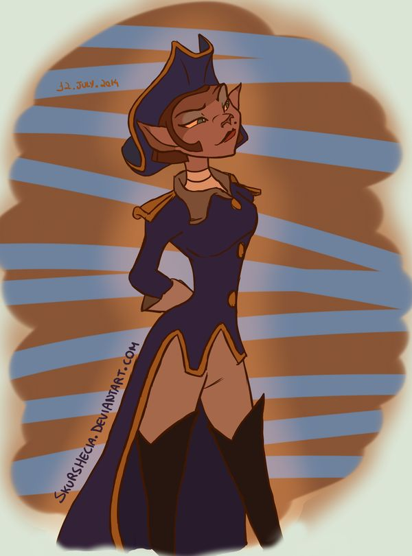treasure planet captain amelia - 600×810