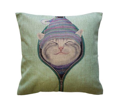 Bundled Kitty Cat Toss Pillow – Meowingtons